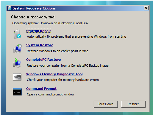 how to access windows in another hard drive at startup